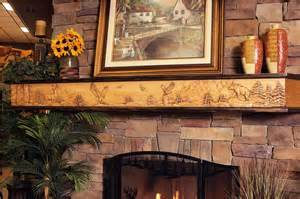 rustic fireplace mantel decor interior design ideas