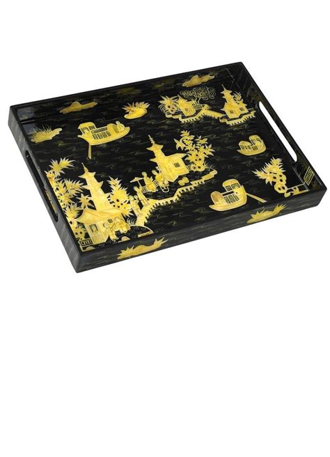 The 32 Best Images About Black Trays On Pinterest Wood Black Serving Tray For Ottoman