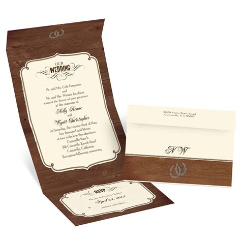 rustic send and seal wedding invitations rustic wedding seal and send invitation invitations by