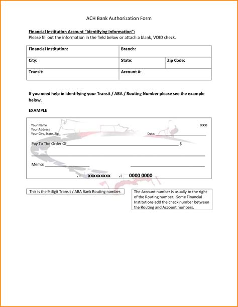 ach form template ach authorization form 9067480 png letterhead template