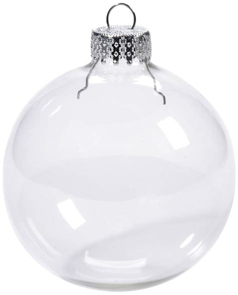 free shipping ornaments christmas 80mm clear glass balls