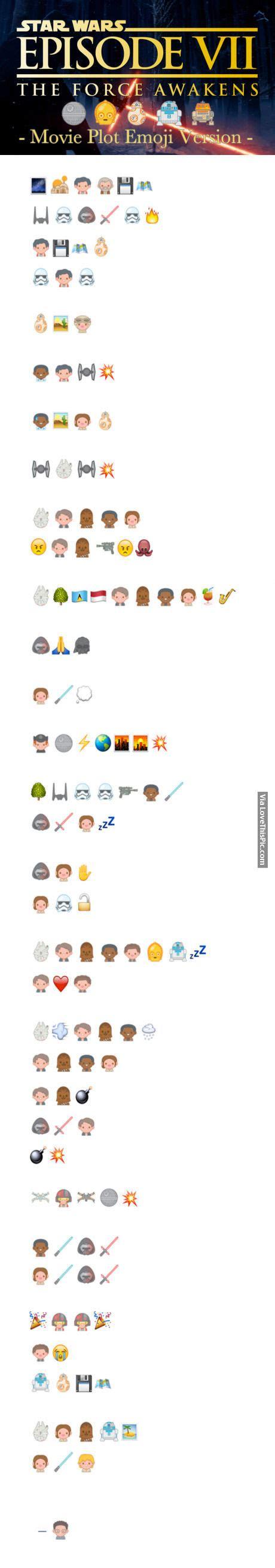 emoji film plots star wars episode vii movie plot emoji version pictures