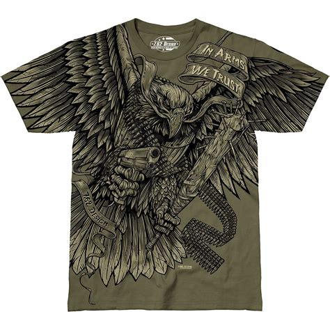 design a military shirt 7 62 design in arms we trust t shirt military green 7 62