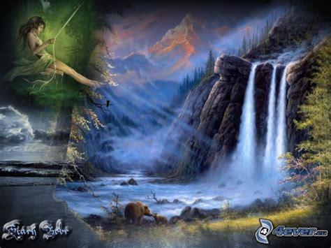 imagenes hermosas surrealistas cascada