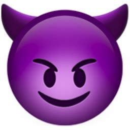 smiling face with horns emoji (u+1f608)
