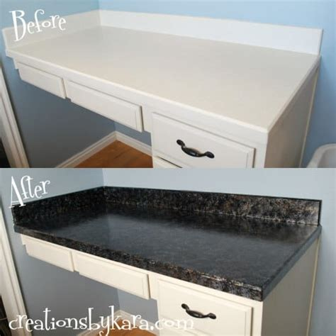 Paint Kitchen Countertop Diy Faux Granite Countertops With Giani