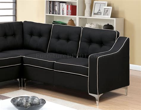 2 sectional sofa black glenda ii sectional sofa cm6851bk in black fabric