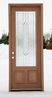 Wood Glass Front Doors Wood Front Doors With Decorative Glass