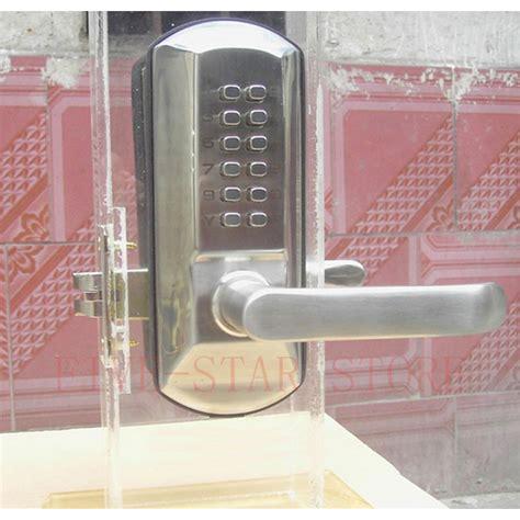 Keyless Interior Door Locks Free Shipping Zinc Alloy Interior Mechanical Password Handle Door Lock Keyless Push Button Code