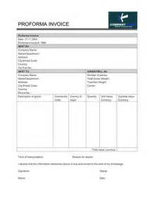 Template Of Proforma Invoice by Proforma Invoice Free To Do List