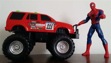 disney monster truck videos spiderman vs monster truck and disney cars toys pixar