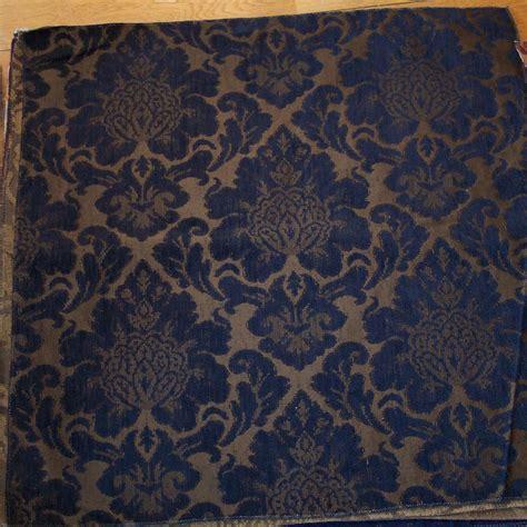 edwardian upholstery fabric dark blue gold victorian print fabric upholstery fabric