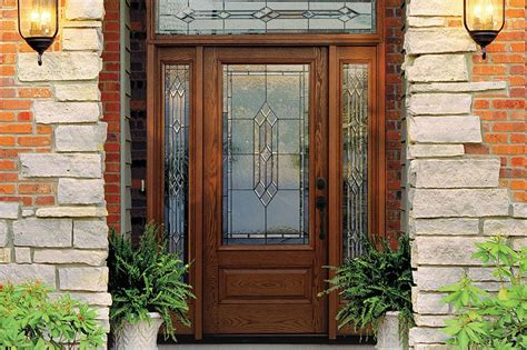 Exterior Fiberglass Doors With Sidelights Fiberglass Front Door With Sidelights Versatile Durable Fiberglass Front Doors With Decorative