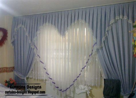 curtains decoration ideas romantic curtain design ideas blue heart style