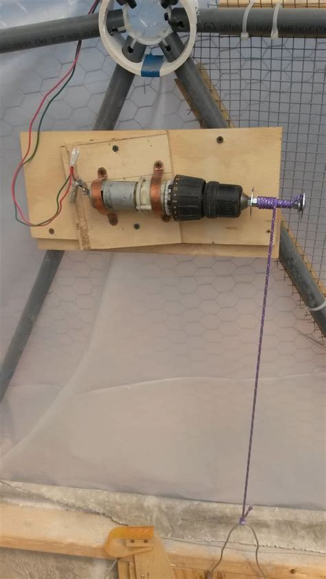 Chicken Coop Door Motor by Cheep Drill Motor And Chuck To Operate Automatic