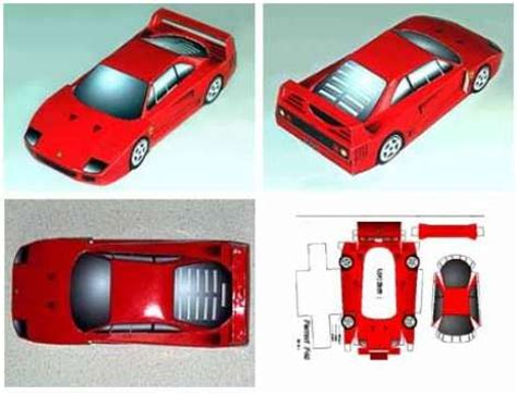 Car Paper Craft - craft templates paper model for free