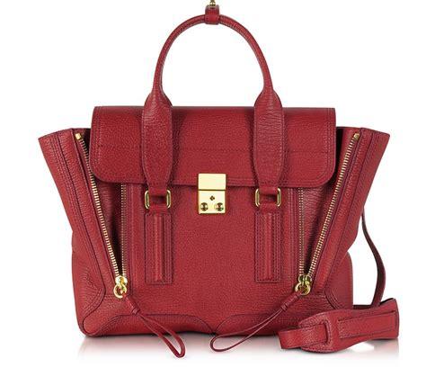 Philip Lim Crimson Pashli 3 1 phillip lim crimson leather pashli medium satchel at forzieri
