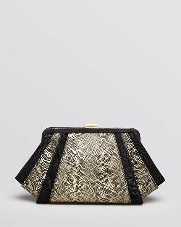Style With Zac Posen Woven Flap Clutch by Zac Zac Posen Clutch Posen Metallic Beaded Leather