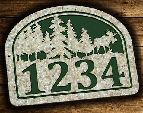 Home Decor Cool Address Plaques Address Plaque Moose Outdoor Outdoor House