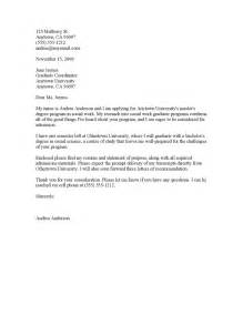 Cover Letter For School by Application Letter Sle Application Letter Sle Graduate School