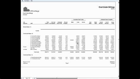 Job Cost Report Template