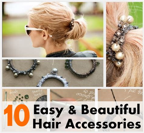 How To Make Hair Accessories At Home Easy by Top 10 Easy Beautiful Hair Accessories Which You Can Use