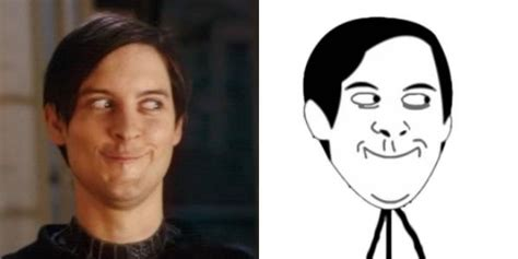 Spiderman Meme Face - tobey maguire funny face