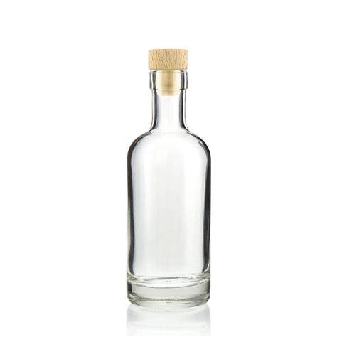 Teh Gelas Botol 250 Ml 250ml clear glass bottle quot linea uno quot world of bottles co uk