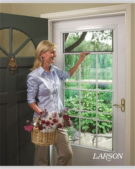 Best 25 Security Storm Doors Ideas On Pinterest Custom Exterior Door With Built In Screen