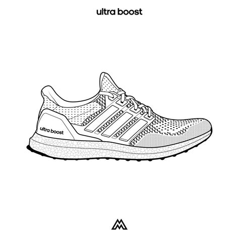 Adidas Shoe Template by Adidas Logo Coloring Pages
