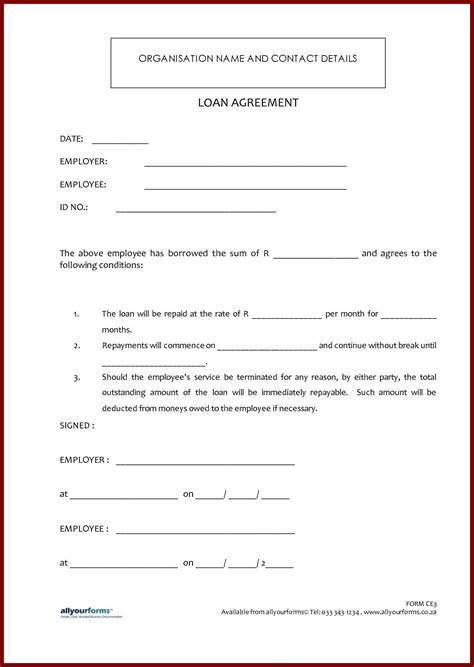 Letter Of Agreement Between Lender And Borrower sle agreement letter between two lending money