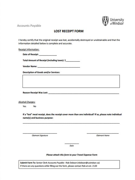Duplicate Receipt Template by 4 Lost Receipt Forms Free Sles Exles Format