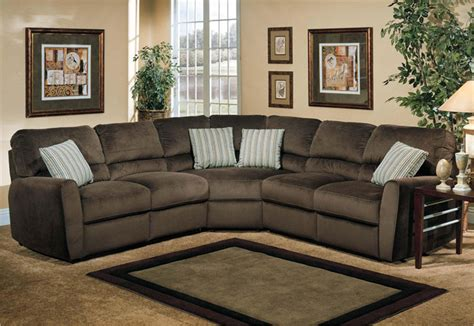 Living Room Reclining Sectionals Microfiber Reclining Sectional Create So Much Coziness Homesfeed