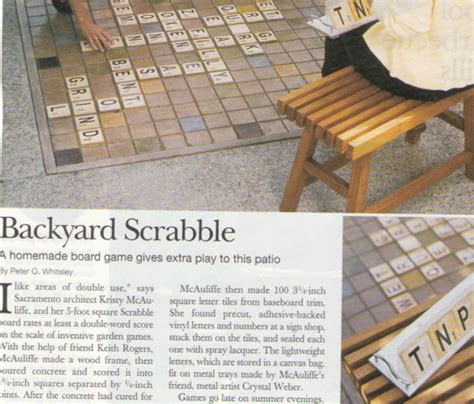 backyard scrabble outdoor scrabble craft design pinterest