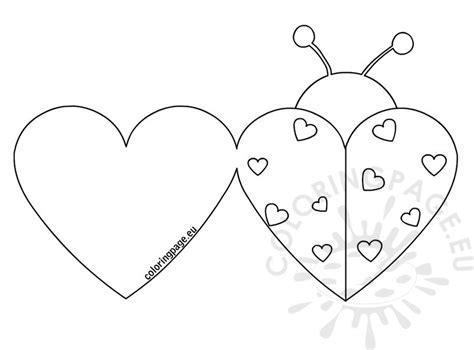 printable coloring pages valentines day cards ladybug cards coloring page