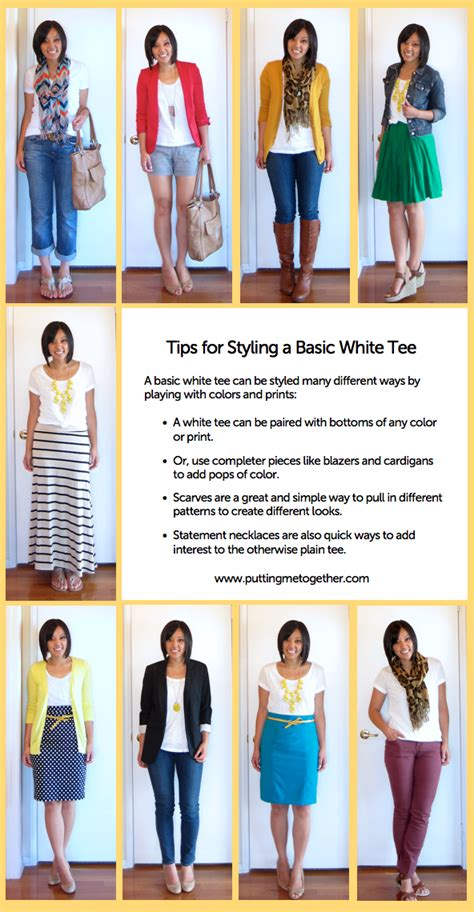 wardrobe tips styling a basic white tee putting me together