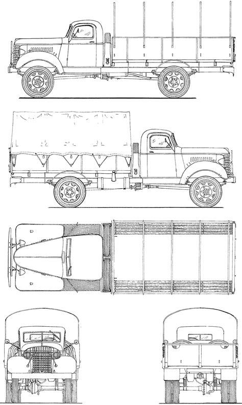 GMC ACK 353 blueprint | Mașini