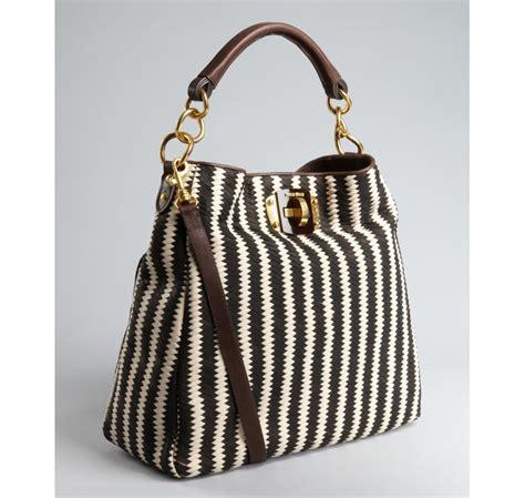Miu Miu Leather Hobo Bag by Miu Miu Woven Leather Hobo Bag In Black Lyst