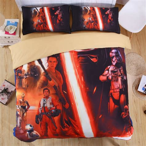 star wars full size bedding sets 3 pcs full size 3d star wars 03 bedding set duvet cover