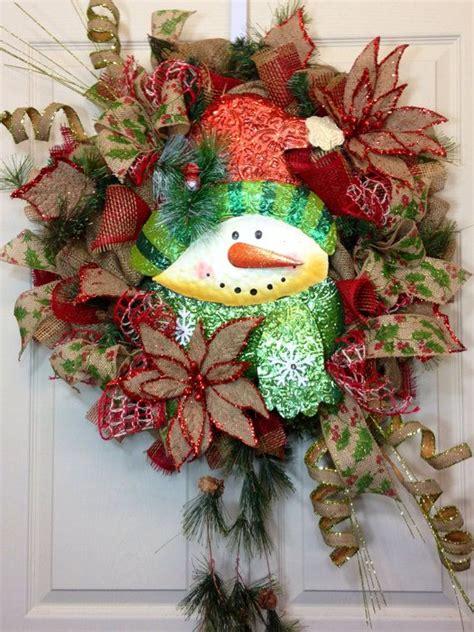 17 best images about deco mesh wreath snowmen on