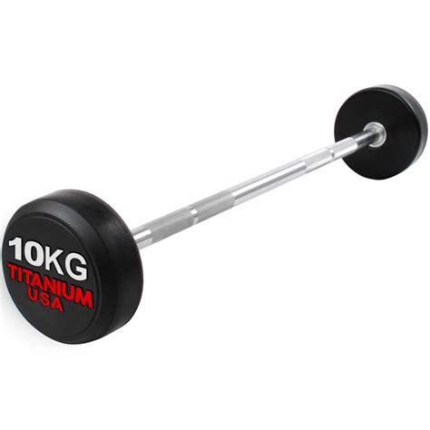 Barbell 10 Kg commercial grade fixed barbell set 10kg 45kg 8 bars