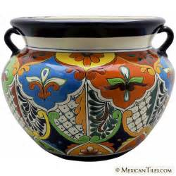 mexican tile mexican talavera large planter 1