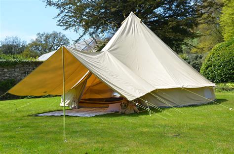 canvas tent awning large awning plus only 4m 5m 6m bell tent 400 x 260cm