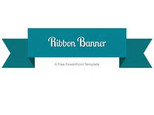 turquoise ribbon banner powerpoint template