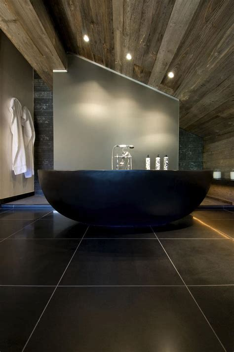 black bathtubs 20 amazing bathroom designs with natural stone bathtub
