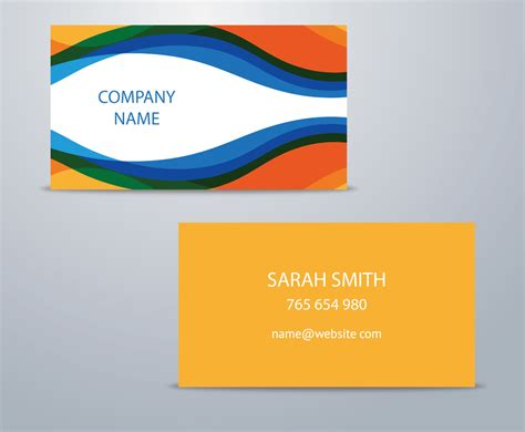 colorful business card templates free simple colorful business card template vector