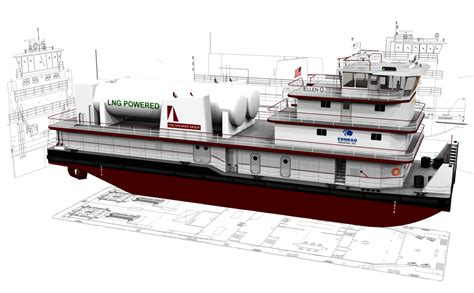 tow boat hats lng powered towboat design receives approval in principle