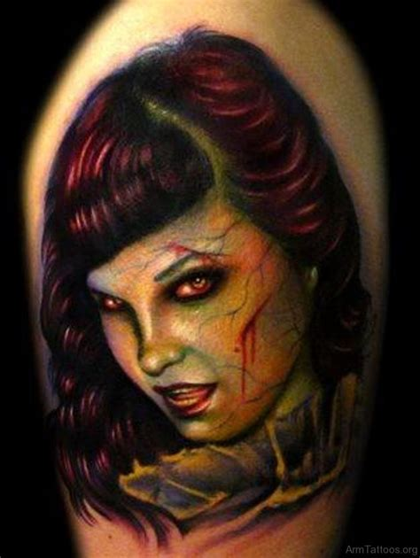 zombie girl tattoo 79 horror tattoos for arm
