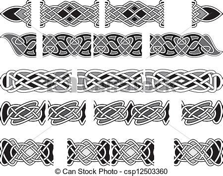 celtic medieval ornaments seamless celtic patterns for