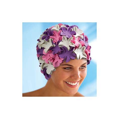 cuffie da bagno con fiori cuffia da bagno con fiori lilla rosa bianco